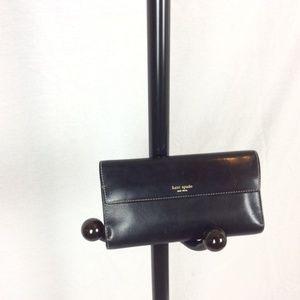 kate Spade Black & Tan  Leather Wallet